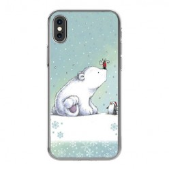 Apple iPhone X - silikonowe etui na telefon - Polarne zwierzaki.