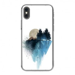 Apple iPhone Xs - silikonowe etui na telefon - Górski krajobraz.