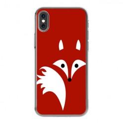 Apple iPhone Xs - silikonowe etui na telefon - Czerwony lisek.