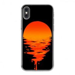 Apple iPhone Xs - silikonowe etui na telefon - Zachodzące słońce.
