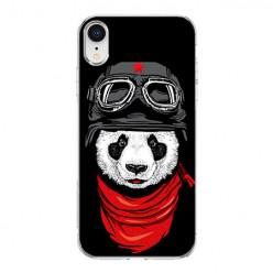 Apple iPhone XR - silikonowe etui na telefon - Panda w czapce.
