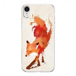Apple iPhone XR - silikonowe etui na telefon - Watercolor Lis.