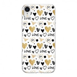 Apple iPhone XR - silikonowe etui na telefon - Serduszka Love.