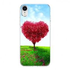 Apple iPhone XR - silikonowe etui na telefon - Serce z drzewa.