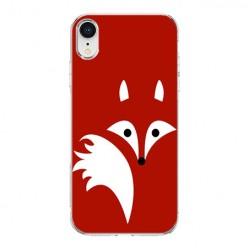 Apple iPhone XR - silikonowe etui na telefon - Czerwony lisek.