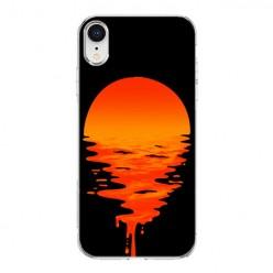 Apple iPhone XR - silikonowe etui na telefon - Zachodzące słońce.