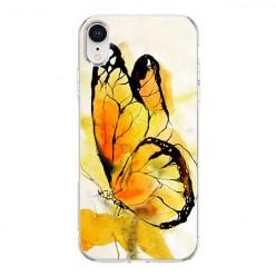 Apple iPhone XR - silikonowe etui na telefon - Motyl watercolor.