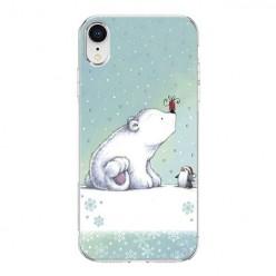 Apple iPhone XR - silikonowe etui na telefon - Polarne zwierzaki.