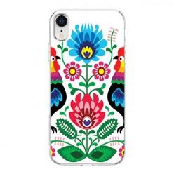 Apple iPhone XR - silikonowe etui na telefon - Łowickie wzory kwiaty.