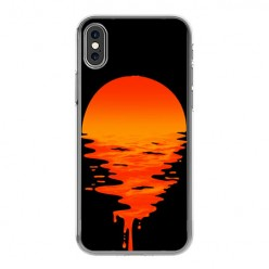 Apple iPhone Xs Max - silikonowe etui na telefon - Zachodzące słońce.