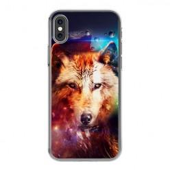 Apple iPhone Xs Max - silikonowe etui na telefon - Wilk z galaktyki.
