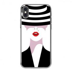 Apple iPhone Xs Max - silikonowe etui na telefon - Kobieta w kapeluszu.