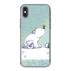 Apple iPhone Xs Max - silikonowe etui na telefon - Polarne zwierzaki.