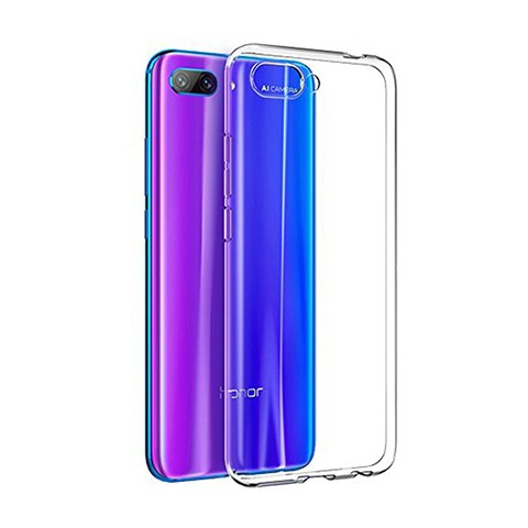Huawei Honor 10 - silikonowe etui na telefon Clear Case - przezroczyste.