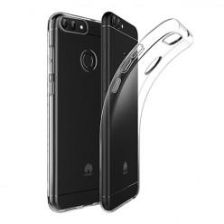 Huawei P Smart - silikonowe etui na telefon Clear Case - przezroczyste.