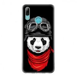 Huawei P Smart 2019 - silikonowe etui na telefon - Panda w czapce.