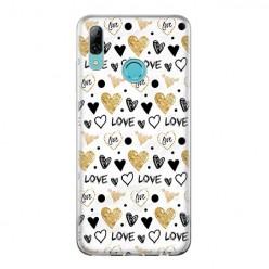 Huawei P Smart 2019 - silikonowe etui na telefon - Serduszka Love.