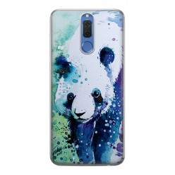 Huawei Mate 10 Lite - silikonowe etui na telefon - Miś panda watercolor.