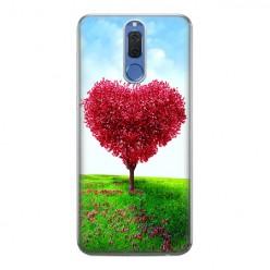 Huawei Mate 10 Lite - silikonowe etui na telefon - Serce z drzewa.