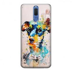 Huawei Mate 10 Lite - silikonowe etui na telefon - Szczeniak watercolor.