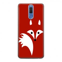 Huawei Mate 10 Lite - silikonowe etui na telefon - Czerwony lisek.