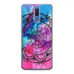 Huawei Mate 10 Lite - silikonowe etui na telefon - Rozeta watercolor.
