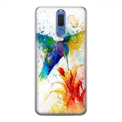 Huawei Mate 10 Lite - silikonowe etui na telefon - Niebieski koliber watercolor.