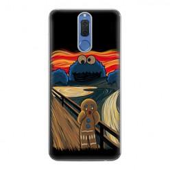 Huawei Mate 10 Lite - silikonowe etui na telefon - Parodia obrazu krzyk.