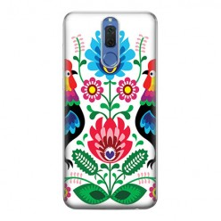 Huawei Mate 10 Lite - silikonowe etui na telefon - Łowickie wzory kwiaty.