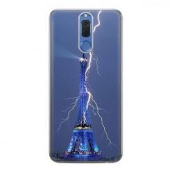 Huawei Mate 10 Lite - silikonowe etui na telefon - Wieża Eiffla z błyskawicą.