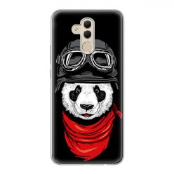 Huawei Mate 20 Lite - silikonowe etui na telefon - Panda w czapce.