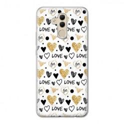 Huawei Mate 20 Lite - silikonowe etui na telefon - Serduszka Love.
