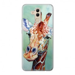 Huawei Mate 20 Lite - silikonowe etui na telefon - Żyrafa watercolor.