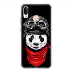 Huawei P20 Lite - silikonowe etui na telefon - Panda w czapce.