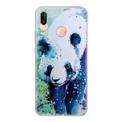 Huawei P20 Lite - silikonowe etui na telefon - Miś panda watercolor.