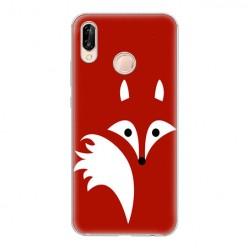 Huawei P20 Lite - silikonowe etui na telefon - Czerwony lisek.