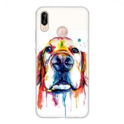Huawei P20 Lite - silikonowe etui na telefon - Pies labrador watercolor.