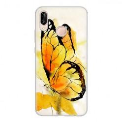 Huawei P20 Lite - silikonowe etui na telefon - Motyl watercolor.