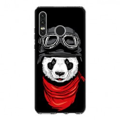 Huawei P30 Lite - silikonowe etui na telefon - Panda w czapce.