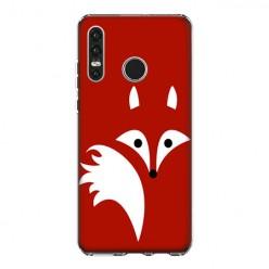 Huawei P30 Lite - silikonowe etui na telefon - Czerwony lisek.