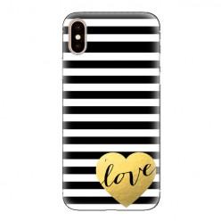 Modne etui na telefon - złote LOVE.