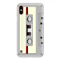 Modne etui na telefon - kaseta retro - biała.