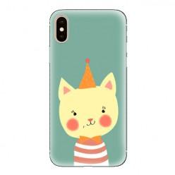 Modne etui na telefon - kotek z czapeczką.