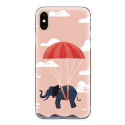 Modne etui na telefon - słoń na spadochronie.