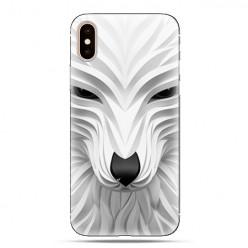 Modne etui na telefon - biały wilk 3d.