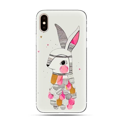 Modne etui na telefon - kolorowy królik.