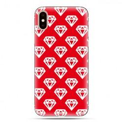 Modne etui na telefon - czerwone diamenty.