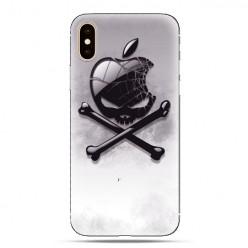 Modne etui na telefon - czaszka logo.