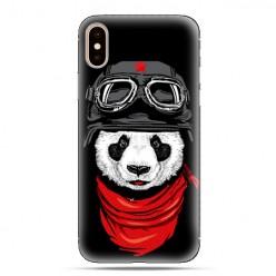 Modne etui na telefon - panda w czapce.