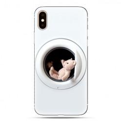 Modne etui na telefon - mały miś w pralce.